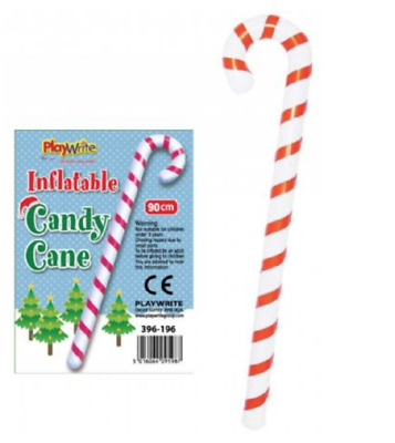 Inflatable Blow Up Candy Cane 90cm Novelty Stocking Filler Gift