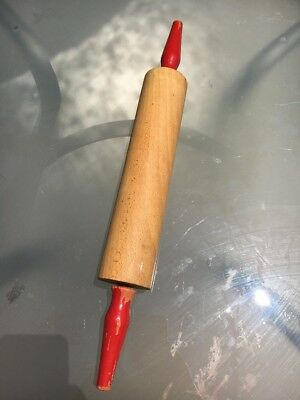 Vintage Red Handled Rolling Pin