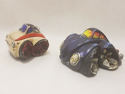 Country Artist- Speed Freaks- Air Kool Bug Car and birch Ornament read item desc