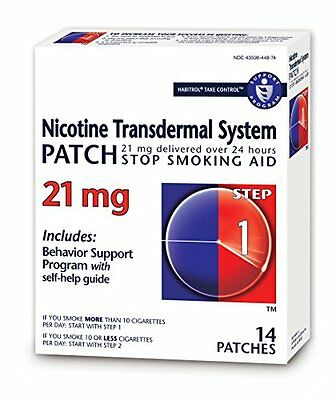 5 Pack Habitrol Paso 1 Nicotina Parches Transdérmica System 21mg 14 Parches Cada