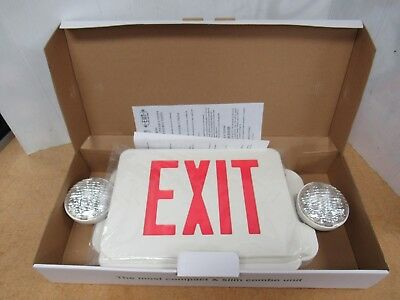 Compact and Slim Emergency Fire Exit Sign ETL Red LED ISO9001   4030K
