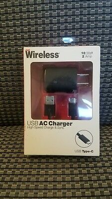 Just Wireless USB (Type C) AC Charger- 5FT Black