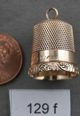 Antique Solid Gold No. 11 Thimble / Pendant / Charm