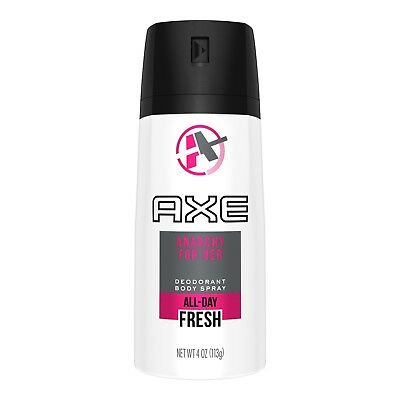 1x AXE Deodorant Body Spray Anarchy For Her - Pink White Can- 150ml 5oz Smell