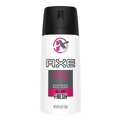 6x AXE Deodorant Body Spray Anarchy For Her - Pink White Can- 150ml 5oz Smell