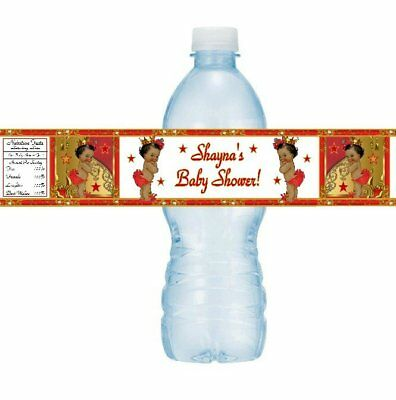 Personalized Red Ladybug Birthday Party Baby Shower Water Bottle