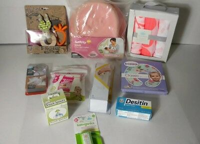 Random brand NEW baby items lot 10 items baby shower