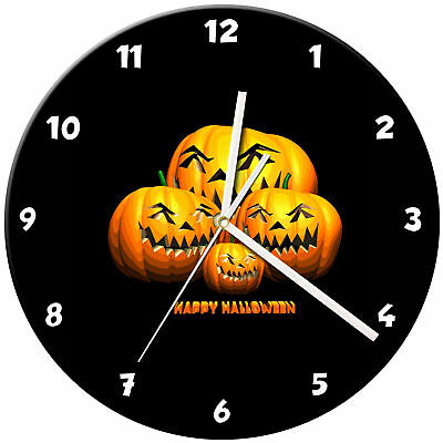 Halloween Glass Wall Clock Learn Gift Bedroom Gaming Kids - 12