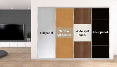 Individual Sliding doors + track. 3 sizes/4 styles.Various colours. From £97.65
