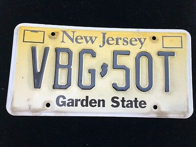 New Jersey Front License Plate  VBG 50T