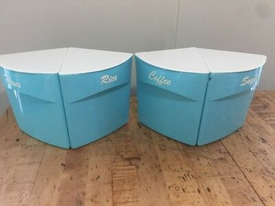 1960's Blisscraft Of Hollywood Vintage Pie Piece Kitchen Canisters