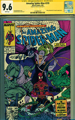 Amazing Spider-Man #319 Cgc 9.6 Signed By Stan Lee! Todd Mcfarlane Art! Hot Book