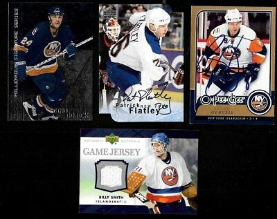 New York Islanders Autograph Jersey Nhl Hockey Card See List