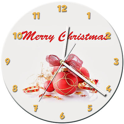 Christmas Xmas Glass Wall Clock Learn Gift Bedroom Gaming Kids - 07