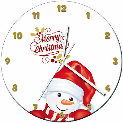 Christmas Xmas Glass Wall Clock Learn Gift Bedroom Gaming Kids - 15