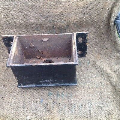 rain water  hopper, victorian Cast Iron 91/2 Inches Wide 6 High And Deep
