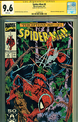Spider-Man #8 Cgc 9.6 Signed By Stan Lee! Mcfarlane Art! Wolverine Cover/story!
