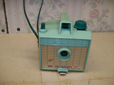 vintage 1950`s mint green savoy camera nice