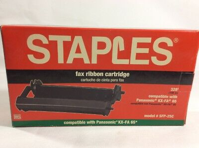 New Staple Fax Ribbon Cartridge #SFP-25C Compatible with Panasonic KX-FA 65 I853