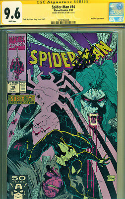 Spider-Man #14 Cgc 9.6 Signed By Stan Lee! Morbius Cover/story! Mcfarlane Art!