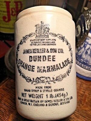 Vintage James Keiller & Son Dundee Orange Marmalade Container
