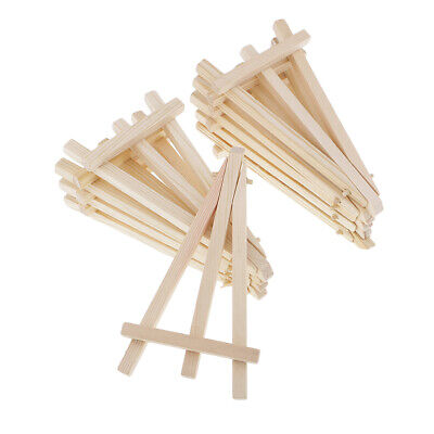 10x Wood Mini Tripod Easel for Canvas Sign Wedding Card Photos Display Stand