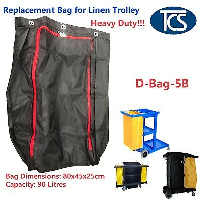 Replacement Nylon Bag for Linen Housekeeping Room Service Janitor Cart Trolley