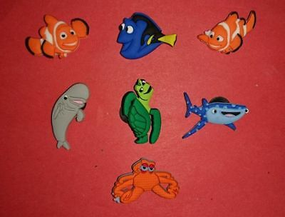 7 Finding Nemo Dory Crush jibbitz crocs wrist loom band shoe charms cake toppers