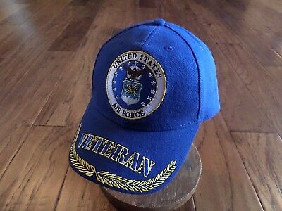 U.S Military Air Force Veteran Embroidered Baseball Hat Air Force Licensed  Cap 0a371e2a8aa3