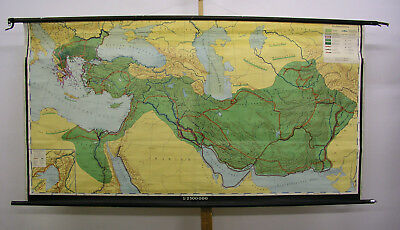 Wall Map Orient Alexander the Great 1956 216x113 Macedonia Ancient Kingdom Map