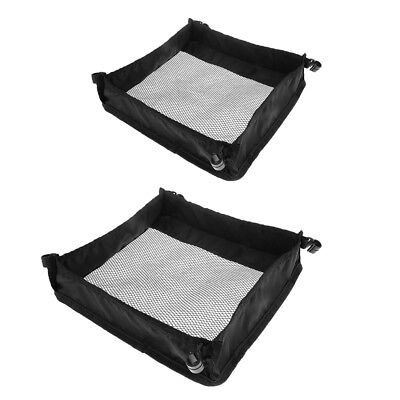2pcs Folding Table Storage Net Picnic Table Hanging Net Grid Bag Camping BBQ