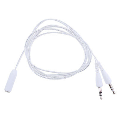 3 5mm Stereo Female To 2 Male Headphone Mic Y Splitter Audio Cable
