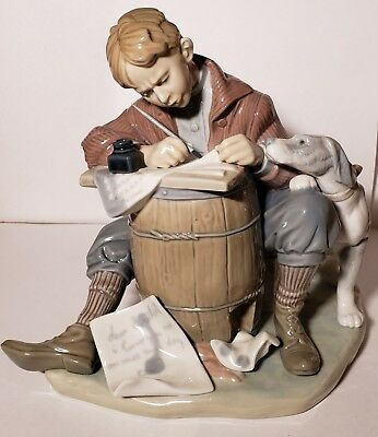 LLADRO 1406 Love Letters-Norman Rockwell Collection-Mint Condition-NO BOX