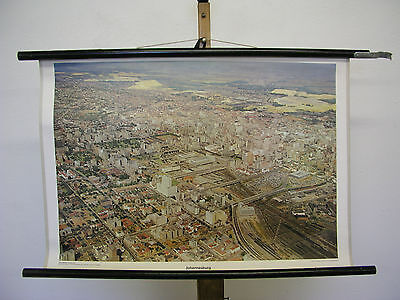 Schulwandbild Beautiful Old Wall Map Johannesburg South Africa 75x51cm