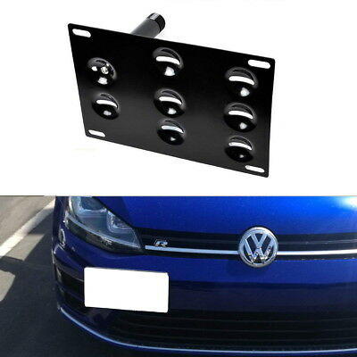 Bumper Tow Hook License Plate Mounting Bracket For 15-up Volkswagen MK7 GTi Golf