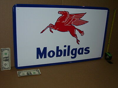 FLYING RED HORSE GASOLINE -- Giant Size - MOBIL GAS & OIL Sign - Made in the USA