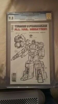 Transformers IDW All Hail Megatron #2 Sketch Variant CGC graded 9.8 White Pages