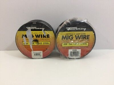 "Forney 42292 .035"" ER70S-6 Mild Steel Mig Wire, 2 lbs. Lot Of 2"