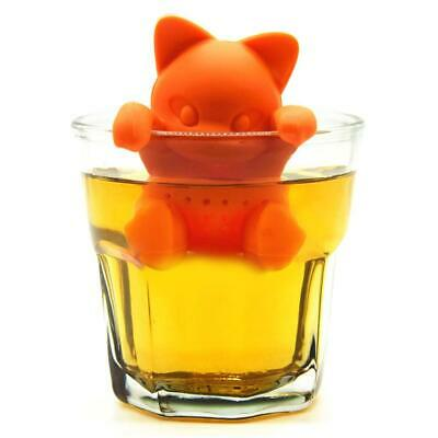 Funny Cat Tea Infuser Silicone Leaf Strainer Herbal Spice Filter Diffuser