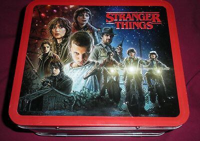 Stranger Things Classic Metal Character Lunchbox Netflix Tv Horror Licensed Bnwt