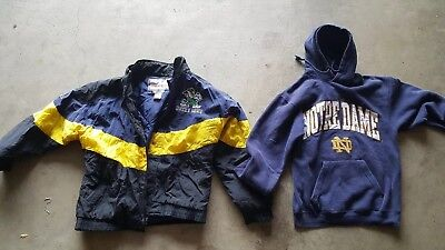 University of Notre Dame Fightin' Irish Lot of 2: Apex One Vintage Coat, Hoodie