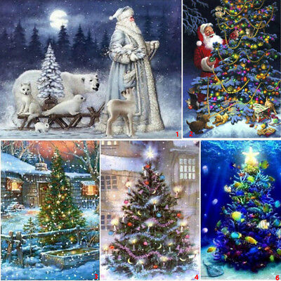 Full Drill Christmas Tree DIY 5D Diamond Painting House Cross Crafts Stitch Kits