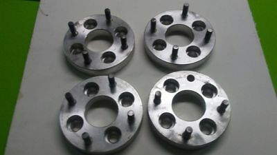 "4X100 to 4X4.5 Wheel Adapter Spacers 1"" Thick Set of 4 Aluminum"