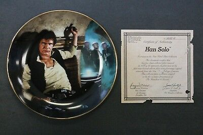 Han Solo Star Wars Collectors Plate Hamilton Collection 1986