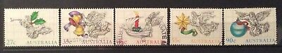Australian Stamps 1985 Set 5 Stamps Christmas Fine Used (B14-145)