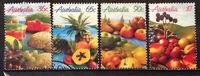Australian Stamps 1987 Set 4 Stamps Fruits In Australia Fine Used (B14-171)