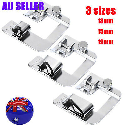 3Pcs Domestic Hemming Cloth Strip Presser Foot Sewing Machine Hemmer Rolled Hem