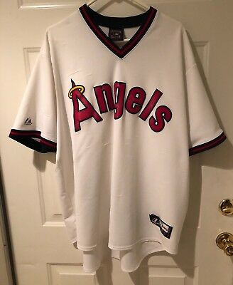 9f2dd476370 ... inexpensive vintage 1980s los angeles angels mlb majestic pull over  jersey cooperstown large a566e bf907