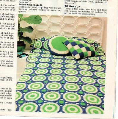 Vintage Crochet Patterns From Magazine Off Cuts 1980