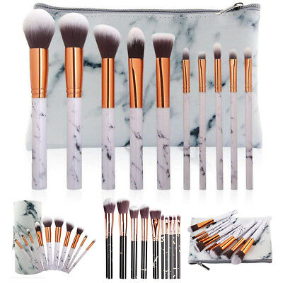 10pcs Pro Makeup Brushes Set Kabuki Foundation Powder Eyeliner Eyeshadow Brush